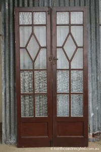 Brown Timber French Doors